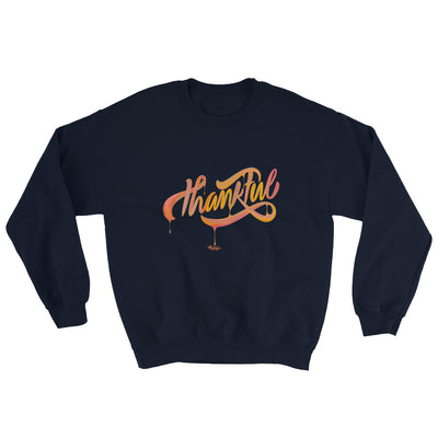 Thankful - Men's Sweatshirt-Navy-S-Made In Agapé