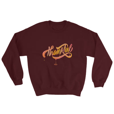 Thankful - Men's Sweatshirt-Maroon-S-Made In Agapé