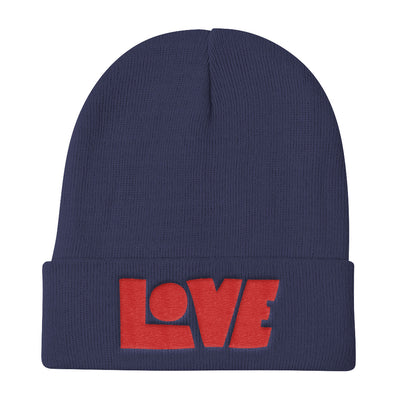 LOVE Protects - Knit Beanie-Navy-Made In Agapé