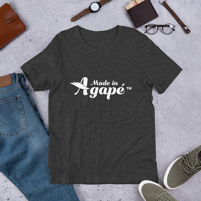 Made In Agapé™ - Cozy Fit Short Sleeve Tee-Dark Grey Heather-XS-Made In Agapé