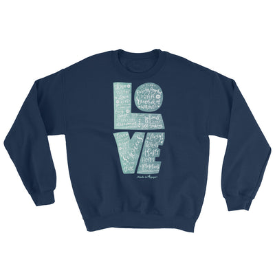 LOVE Is Patient - Women's Sweatshirt-Navy-S-Made In Agapé