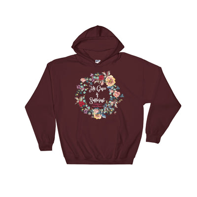 His Grace Is Sufficient - Women's Hoodie-Maroon-S-Made In Agapé