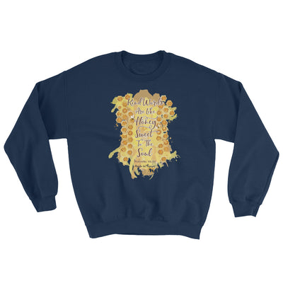 Kind Words Are Like Honey - Women's Sweatshirt-Navy-S-Made In Agapé