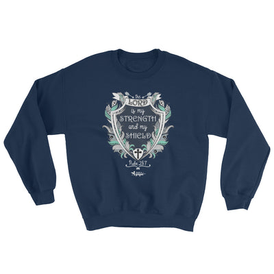 Lord Is My Strength And Shield - Women's Sweatshirt-Navy-S-Made In Agapé