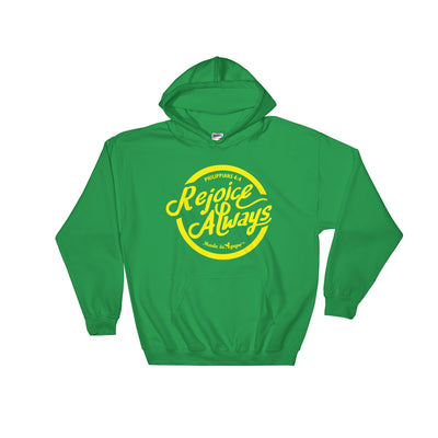 Rejoice Always - Men's Hoodie-Irish Green-S-Made In Agapé