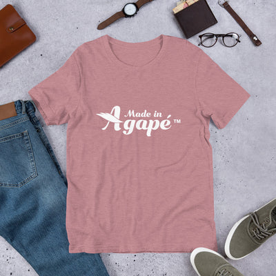 Made In Agapé™ - Cozy Fit Short Sleeve Tee-Heather Orchid-S-Made In Agapé