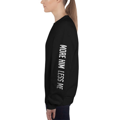 More Him Less Me - Women's Sweatshirt-Black-S-Made In Agapé
