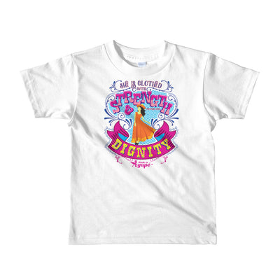 Clothed With Strength And Dignity - Kids T-Shirt-White-2yrs-Made In Agapé