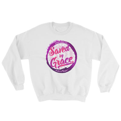 Saved By Grace - Women's Sweatshirt-White-S-Made In Agapé