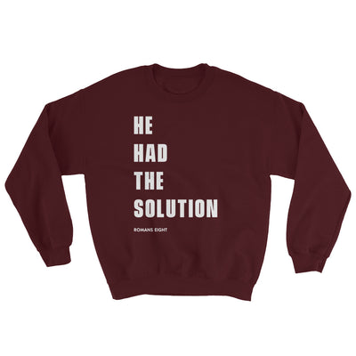 Solution Before Problem - Women's Sweatshirt-Maroon-S-Made In Agapé