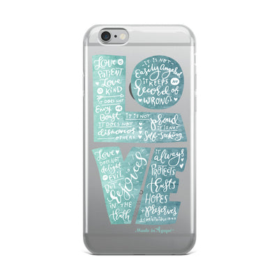 LOVE Is Patient - iPhone Case-iPhone 6 Plus/6s Plus-Made In Agapé