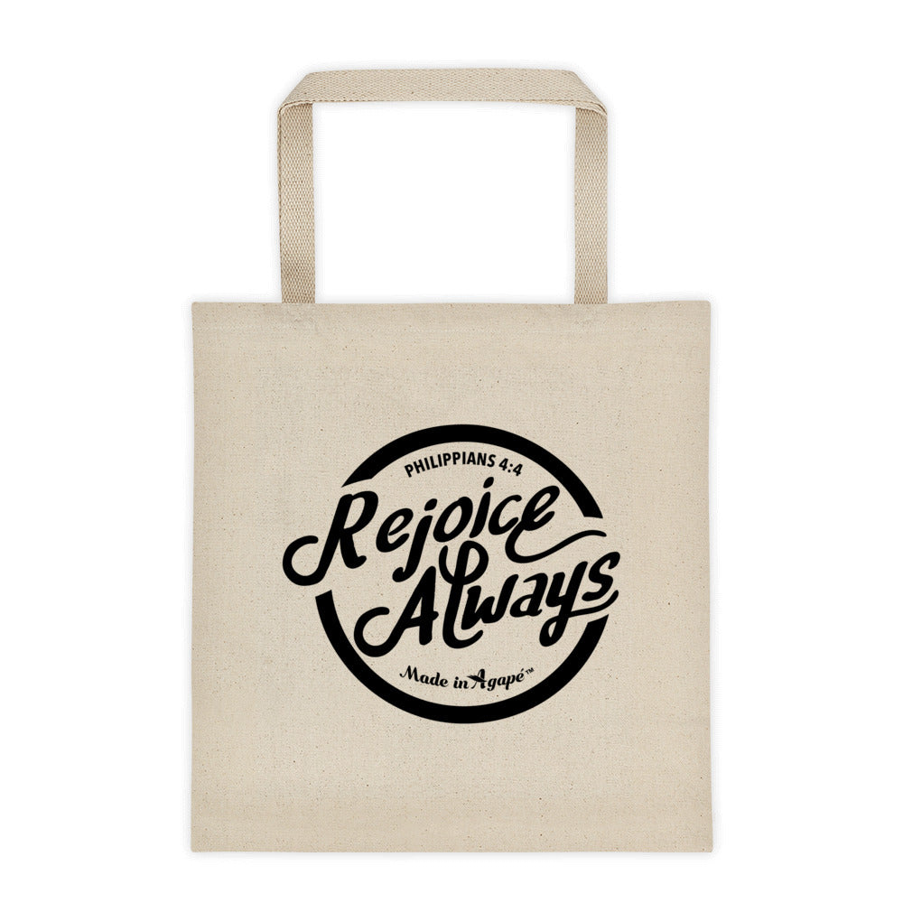 Rejoice Always - Tote Bag-Made In Agapé