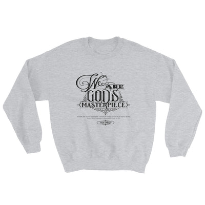We Are God's Masterpiece - Men's Sweatshirt-Sport Grey-S-Made In Agapé