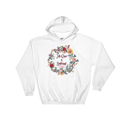 His Grace Is Sufficient - Women's Hoodie-White-S-Made In Agapé
