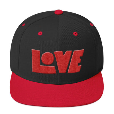 LOVE Protects - Snapback Hat-Black/ Red-Made In Agapé