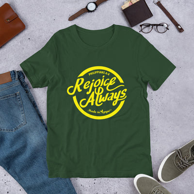 Rejoice Always - Unisex Crew-Forest-S-Made In Agapé