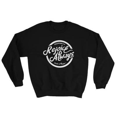 Rejoice Always - Women's Sweatshirt-Black-S-Made In Agapé