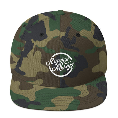 Rejoice Always - Snapback Hat-Green Camo-Made In Agapé