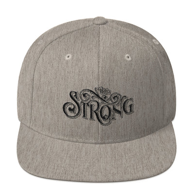 Be Strong - Snapback Hat-Heather Grey-Made In Agapé