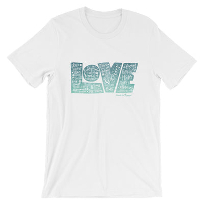 LOVE Protects - Cozy Fit Short Sleeve Tee-White-S-Made In Agapé