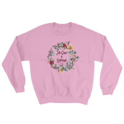 His Grace Is Sufficient - Women's Sweatshirt-Light Pink-S-Made In Agapé