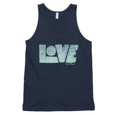 LOVE Protects - Unisex Tank-Navy-XS-Made In Agapé