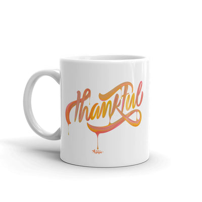 Thankful - Coffee Mug-11oz-Left Handle-Made In Agapé