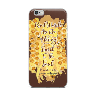 Kind Words Are Like Honey - iPhone Case-iPhone 6 Plus/6s Plus-Made In Agapé