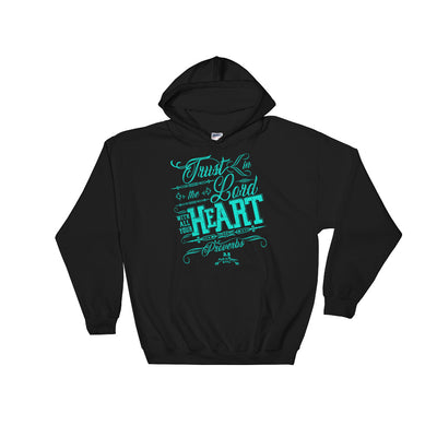 Trust In The Lord - Men's Hoodie-Black-S-Made In Agapé