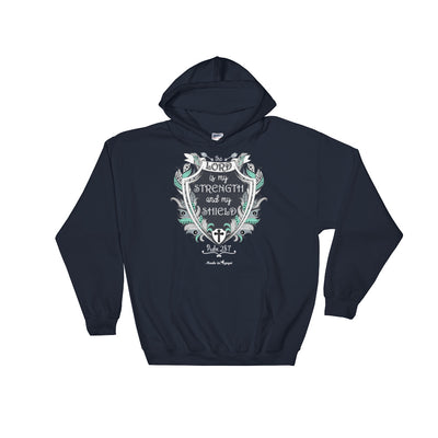 Lord Is My Strength And Shield - Women's Hoodie-Navy-S-Made In Agapé