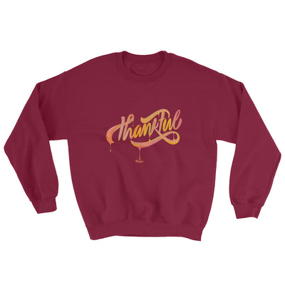 Thankful - Women's Sweatshirt-Maroon-S-Made In Agapé