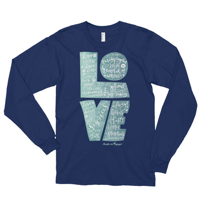 LOVE Is Patient - Unisex Long Sleeve Shirt-Navy-S-Made In Agapé