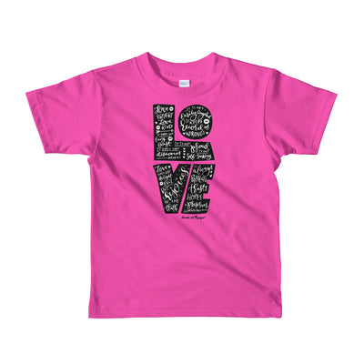 LOVE Is Patient - Kids T-Shirt-Fuchsia-2yrs-Made In Agapé