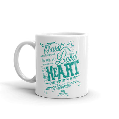 Trust In The Lord - Coffee Mug-11oz-Left Handle-Made In Agapé