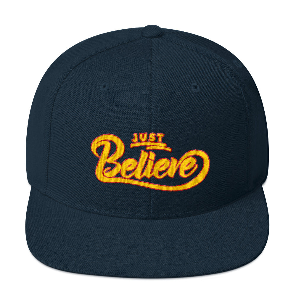 Just Believe - Snapback Hat-Dark Navy-Made In Agapé