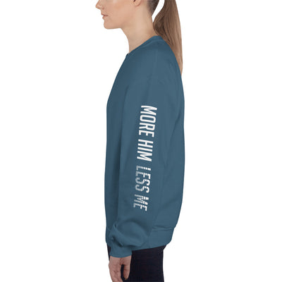 More Him Less Me - Women's Sweatshirt-Indigo Blue-S-Made In Agapé