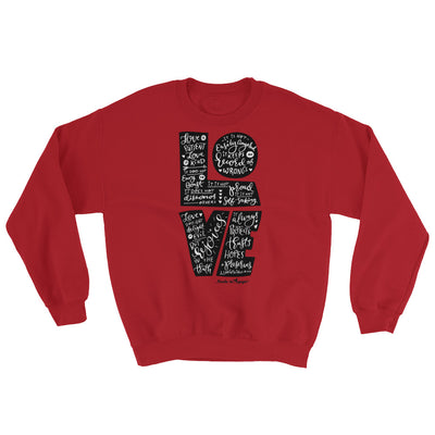 LOVE Is Patient - Men's Sweatshirt-Red-S-Made In Agapé