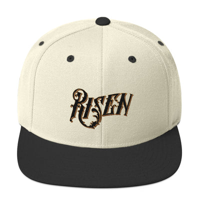 Risen - Snapback Hat-Natural/ Black-Made In Agapé