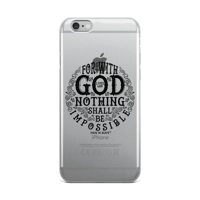 Nothing Impossible With God - iPhone Case-iPhone 6 Plus/6s Plus-Made In Agapé