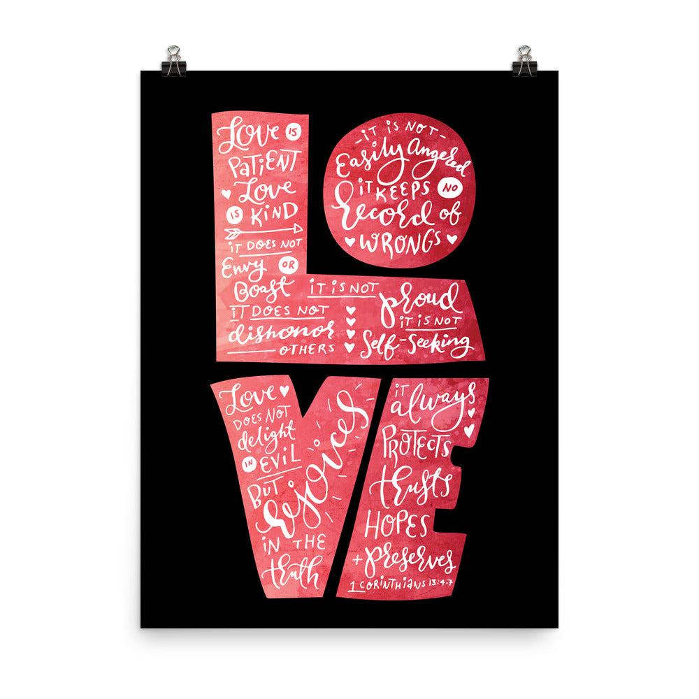 Love Is Patient - Poster-18×24-Made In Agapé