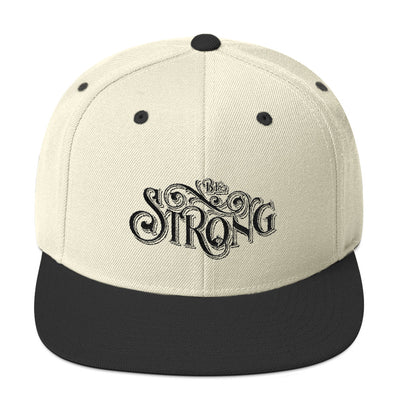 Be Strong - Snapback Hat-Natural/ Black-Made In Agapé