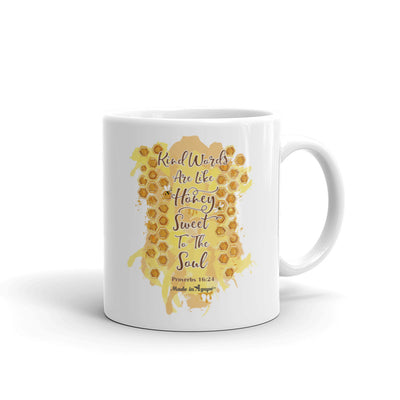 Kind Words Are Like Honey - Coffee Mug-11oz-Made In Agapé
