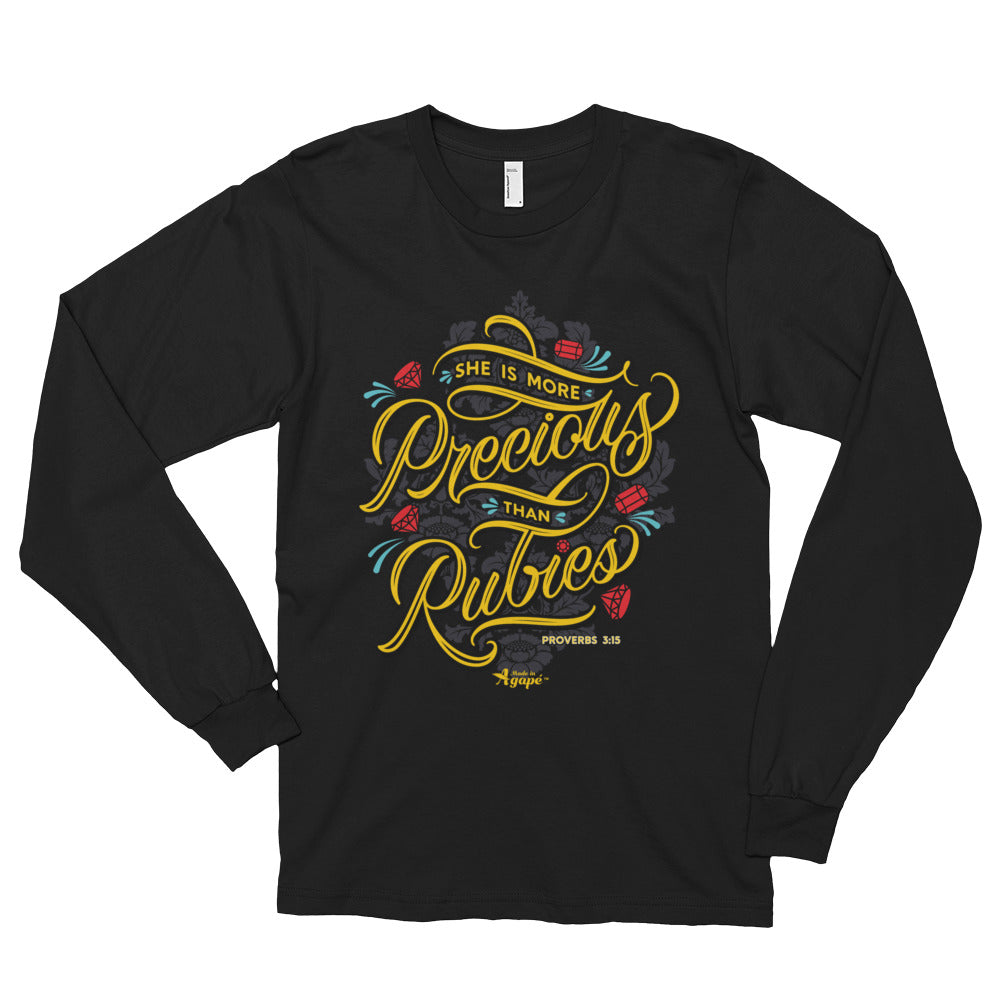 More Precious Than Rubies - Unisex Long Sleeve Shirt-S-Made In Agapé