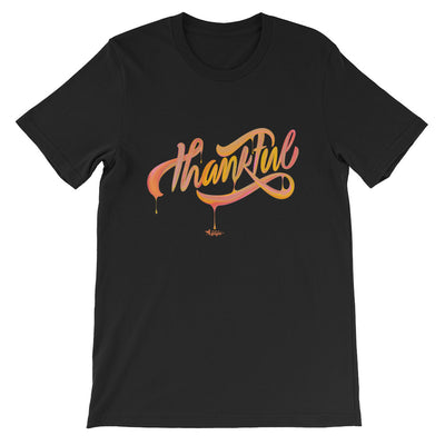 Thankful - Cozy Fit Short Sleeve Tee-Black-XS-Made In Agapé