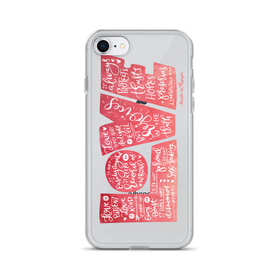 LOVE Protects - iPhone Case-iPhone 7/8-Made In Agapé