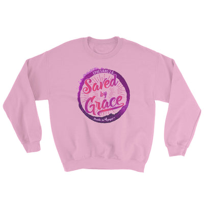 Saved By Grace - Women's Sweatshirt-Light Pink-S-Made In Agapé
