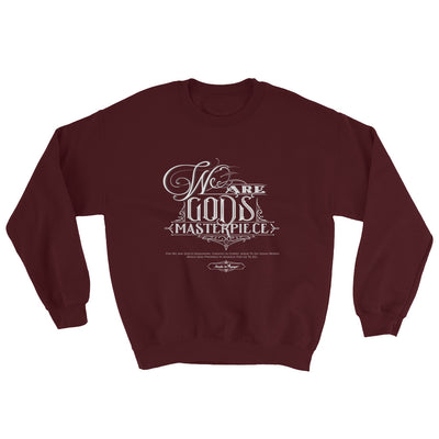 We Are God's Masterpiece - Men's Sweatshirt-Maroon-S-Made In Agapé