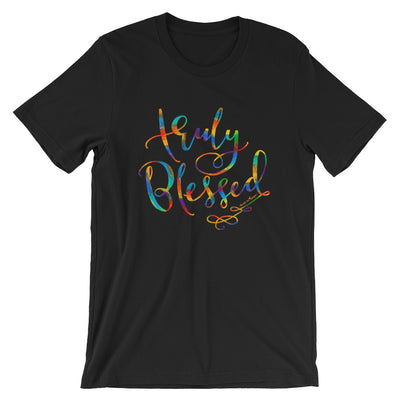 Truly Blessed - Cozy Fit Short Sleeve Tee-Black-S-Made In Agapé