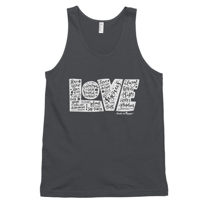 LOVE Protects - Unisex Tank-Asphalt-XS-Made In Agapé