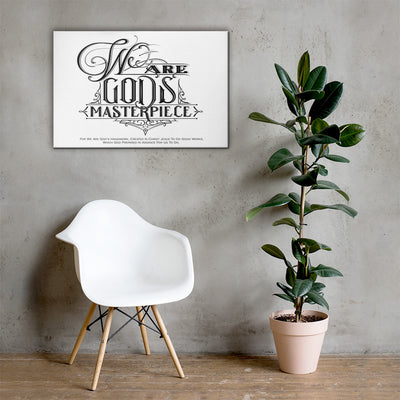 We Are God's Masterpiece - Canvas Wall Art-24×36-Made In Agapé